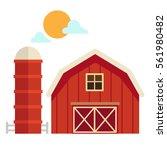 Illustration Of Isolated  Barn...