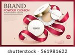 powder cushion ad  contained in ... | Shutterstock .eps vector #561981622