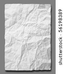 white crumpled paper on gray... | Shutterstock . vector #56198389
