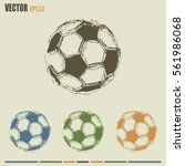 soccer ball icon | Shutterstock .eps vector #561986068