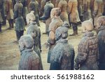 terracotta army of soldier... | Shutterstock . vector #561988162