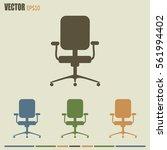 vector illustration of office... | Shutterstock .eps vector #561994402