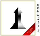 arrow icon   vector | Shutterstock .eps vector #561996892