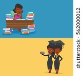 two educational banners with... | Shutterstock .eps vector #562000012