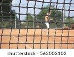 tennis net background with a... | Shutterstock . vector #562003102