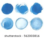 Blue Watercolor Blotch. Set Of...