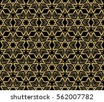 floral geometric lace ornament. ... | Shutterstock .eps vector #562007782