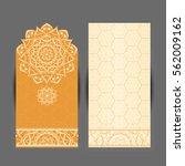 wedding invitation or card .... | Shutterstock .eps vector #562009162
