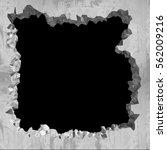 explosion hole in concrete... | Shutterstock . vector #562009216