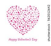 abstract vector elegant heart... | Shutterstock .eps vector #562012642