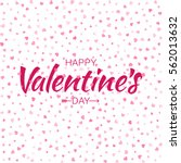 vector red happy valentines day ... | Shutterstock .eps vector #562013632