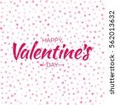 vector red happy valentines day ... | Shutterstock .eps vector #562013632