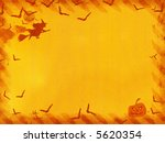 halloween canvas  witch and... | Shutterstock . vector #5620354