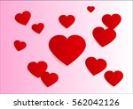 lovely heart  valentine's ... | Shutterstock .eps vector #562042126