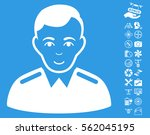 officer icon with bonus drone... | Shutterstock .eps vector #562045195