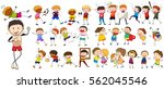 people characters doing... | Shutterstock .eps vector #562045546