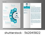 resume and cover letter in flat ... | Shutterstock .eps vector #562045822