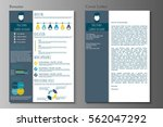 resume and cover letter in flat ... | Shutterstock .eps vector #562047292
