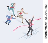 business people concepts for... | Shutterstock .eps vector #562048702