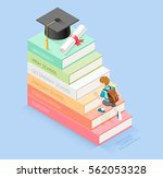 books step education timeline.... | Shutterstock .eps vector #562053328
