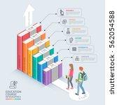 books step education timeline.... | Shutterstock .eps vector #562054588