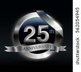 celebrating 25th years... | Shutterstock .eps vector #562054945