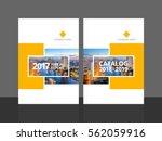 cover design for annual report... | Shutterstock .eps vector #562059916