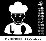 cook pictograph with bonus... | Shutterstock .eps vector #562062382