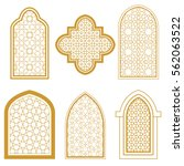 set of islamic ornamental... | Shutterstock .eps vector #562063522