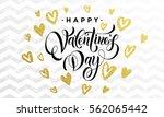 premium gold hearts for...   Shutterstock .eps vector #562065442