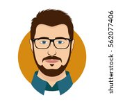 man character face avatar in... | Shutterstock .eps vector #562077406