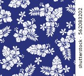 hibiscus flower pattern | Shutterstock .eps vector #562083202