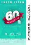 60 years anniversary invitation ... | Shutterstock .eps vector #562083268