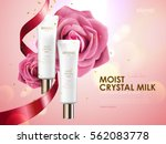 romantic cosmetic ads  skin... | Shutterstock .eps vector #562083778