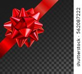 gift bow realistic vector... | Shutterstock .eps vector #562087222