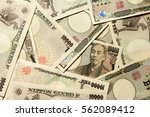 group of japanese bank note... | Shutterstock . vector #562089412