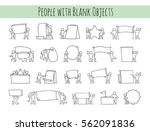 cartoon set of little people... | Shutterstock .eps vector #562091836