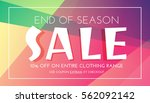 stylish sale banner with... | Shutterstock .eps vector #562092142