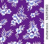 hibiscus flower pattern | Shutterstock . vector #562092802