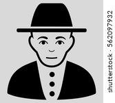 jew vector icon. flat black... | Shutterstock .eps vector #562097932