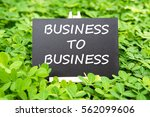 """business to business "" words... 