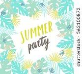 summer party flyer template.... | Shutterstock .eps vector #562100872