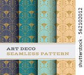 art deco seamless pattern with... | Shutterstock .eps vector #562102012