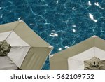 pool side deck chairs tables... | Shutterstock . vector #562109752