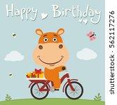 Happy Birthday  Funny Hippo On...