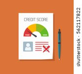 bad credit score document with... | Shutterstock .eps vector #562117822