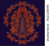 hungarian folk art   Shutterstock .eps vector #562120045