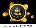 big win retro banner with... | Shutterstock .eps vector #562123702