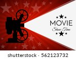 cinema background or banner.... | Shutterstock .eps vector #562123732