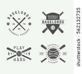 set of vintage baseball logos ... | Shutterstock .eps vector #562132735